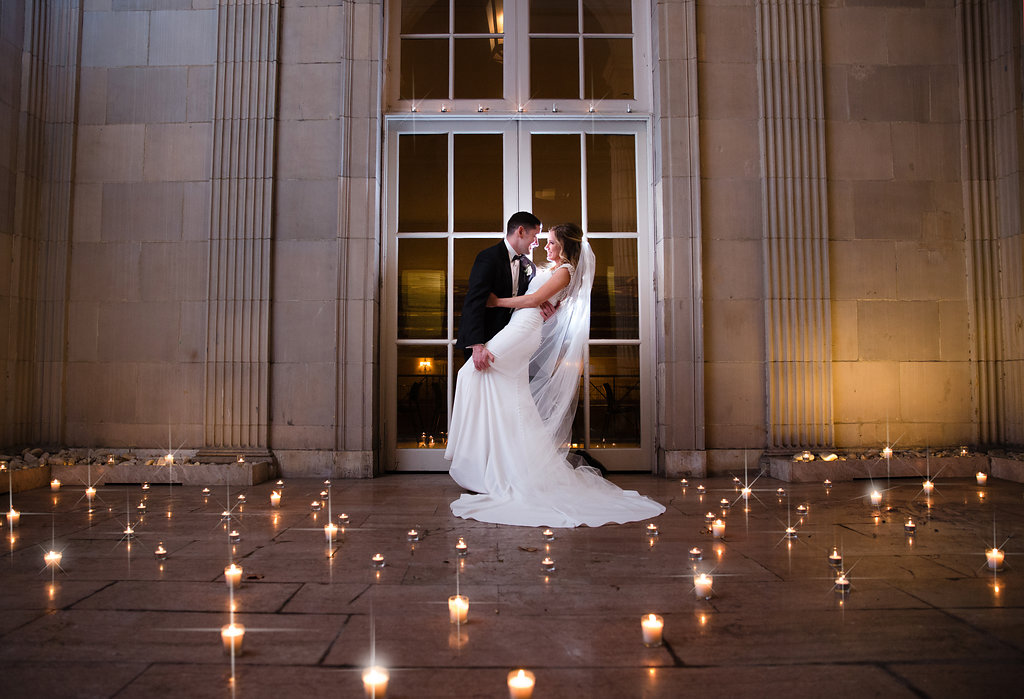 Ballroom at the Ben Courtyard Candles